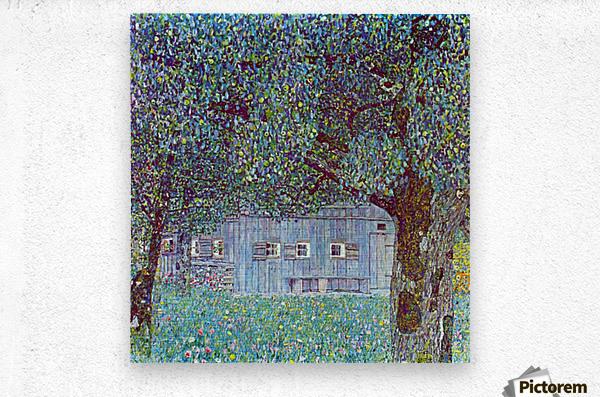 Farmhouse in Upper Austria by Klimt  Metal print