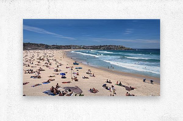 Bondi Beach Panoramic  Metal print