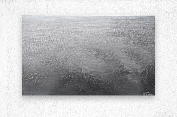 Open Waters B&W  Metal print