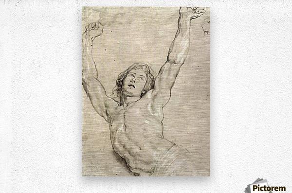 Figure Study of Christ by Rubens  Metal print