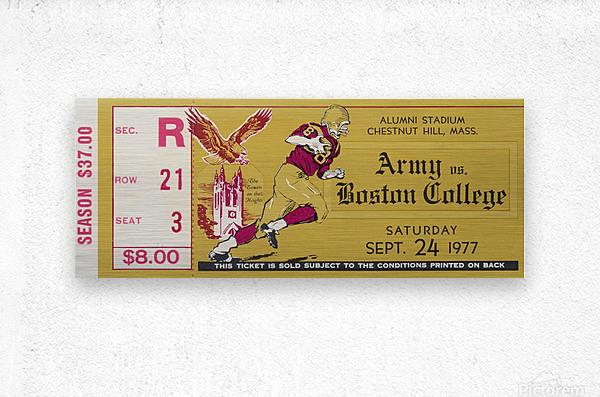 1977 Boston College vs. Army  Metal print