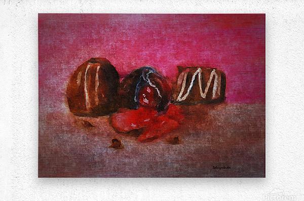 Chocolate Candy  Metal print