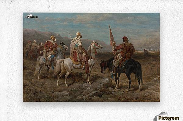 Arab caravan patrol  Metal print