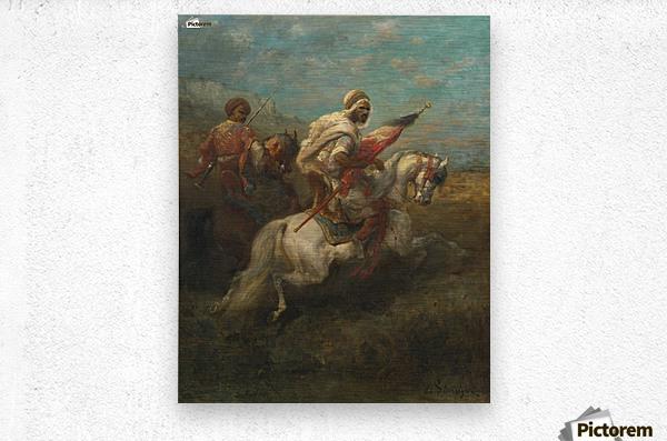Arabs riding horses  Metal print