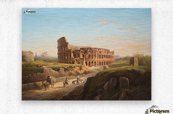 Vista del Coliseo  Metal print