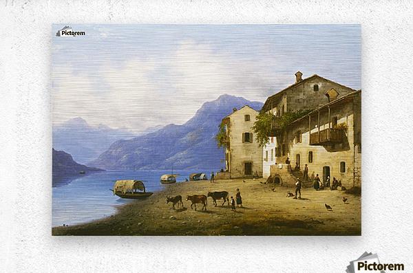 Landscape near Lake Como  Metal print