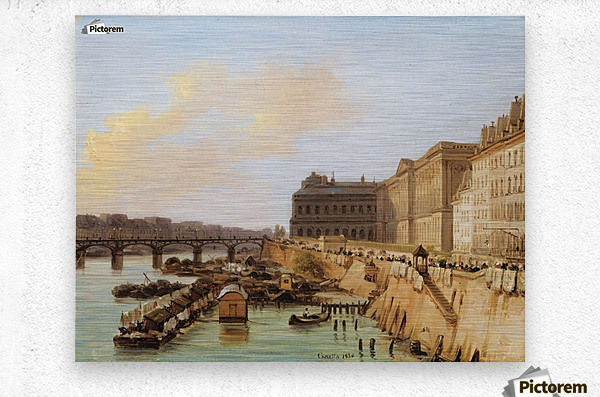 The Pont des Arts, Paris  Metal print