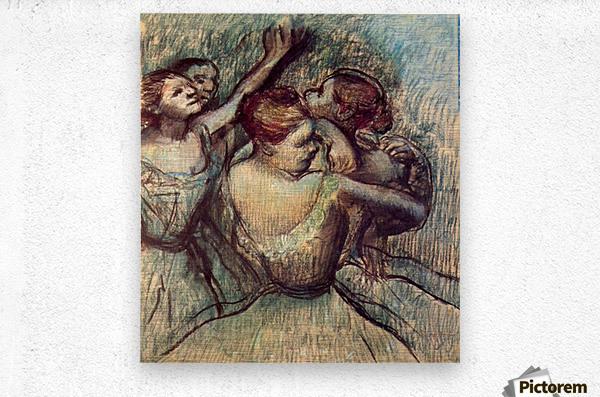 Four dancers in half figure by Degas  Metal print