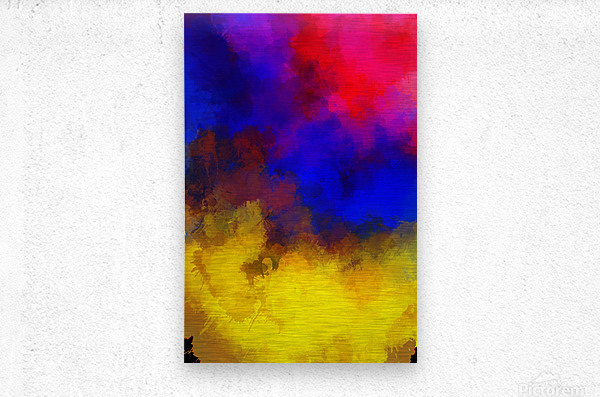Primary Red Yellow Blue  Impression metal