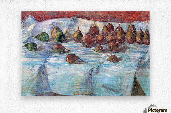 Winter Sickle Pears  by Hassam  Metal print