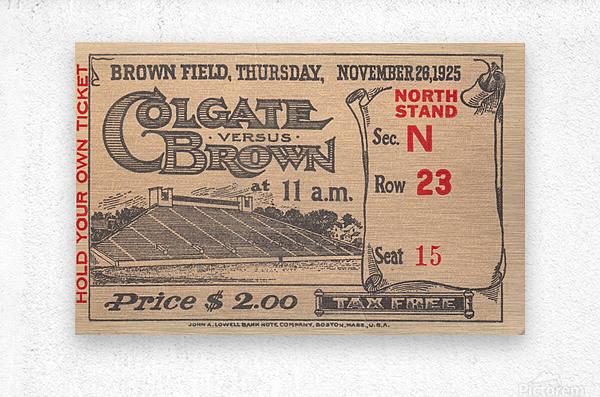 1925 Brown vs. Colgate  Metal print