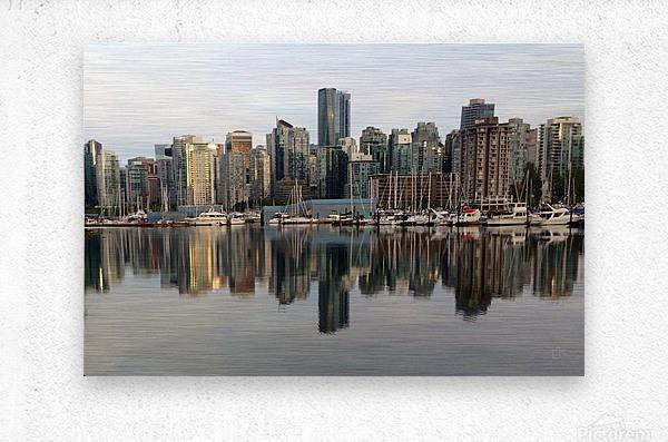 Downtown Reflection  Metal print