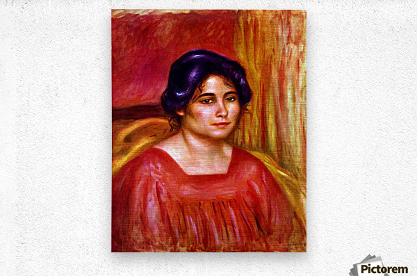 Gabrielle with red blouse by Renoir  Metal print