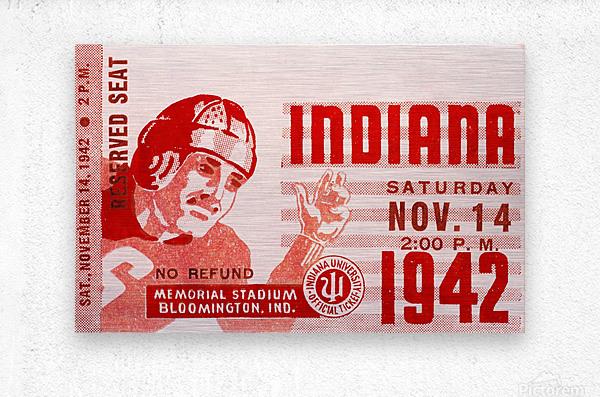 1942 Indiana Football Art  Metal print