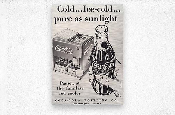 Vintage Coke Ad Bloomington Indiana  Metal print