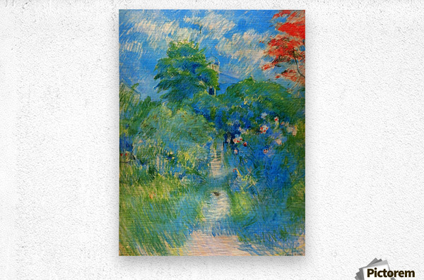 Gardenpath in Mezy by Morisot  Metal print