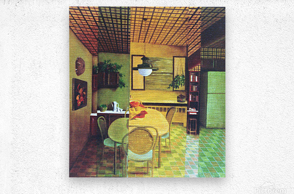 Retro Kitchen  Metal print