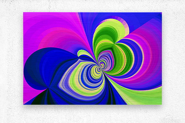 PSYCHEDELIC BUTTERFLY 2  Metal print