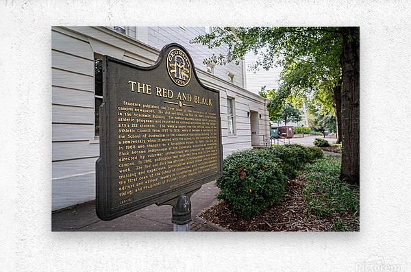 The Red and Balck Marker University of Georgia   Athens GA 9601  Metal print