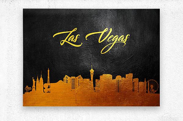 Las Vegas Nevada Skyline Wall Art  Metal print