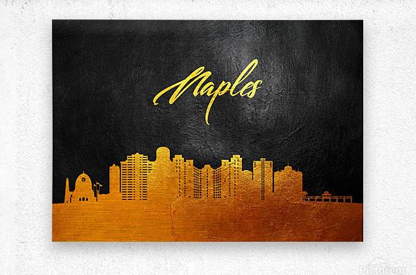Naples Florida Skyline Wall Art  Metal print
