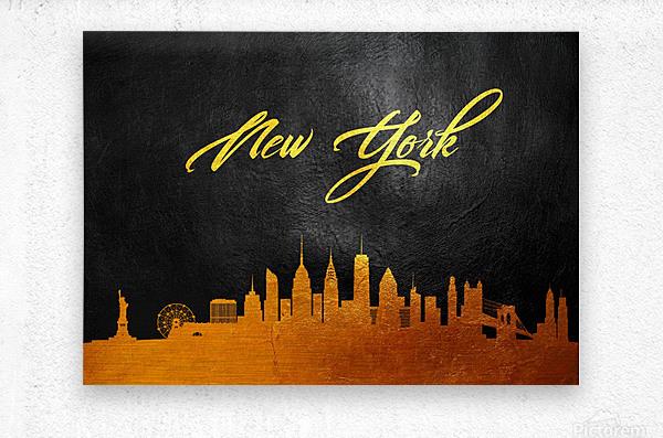 New York New York Skyline Wall Art  Metal print