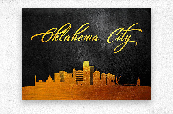 Oklahoma City Oklahoma Skyline Wall Art  Metal print