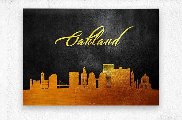 Oakland California Skyline Wall Art  Metal print