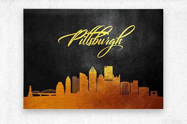 Pittsburgh Pennsylvania Skyline Wall Art  Metal print