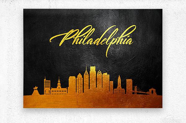 Philadelphia Pennsylvania Skyline Wall Art  Metal print