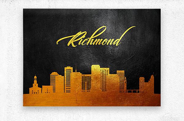Richmond Virginia Skyline Wall Art  Metal print