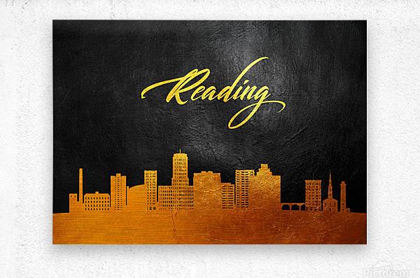 Reading Pennsylvania Skyline Wall Art  Metal print