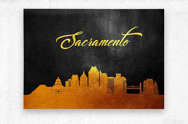 Sacramento California Skyline Wall Art  Metal print