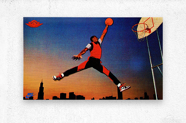 1985 Nike Air Jordan Poster Card  Metal print