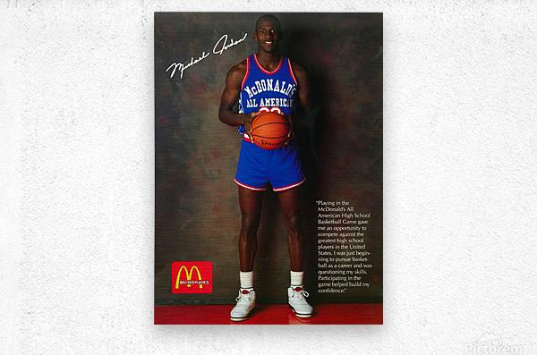 1987 McDonalds Michael Jordan Ad Poster  Metal print