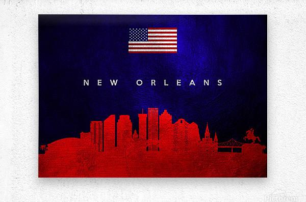 New Orleans Louisiana Skyline Wall Art  Metal print