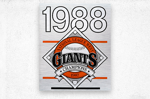 San Francisco Giants 1988  Metal print