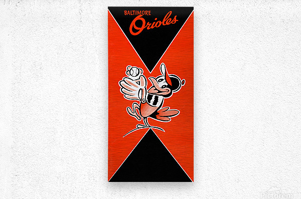 Row One Retro Remix Baltimore Orioles Press Guide  Metal print