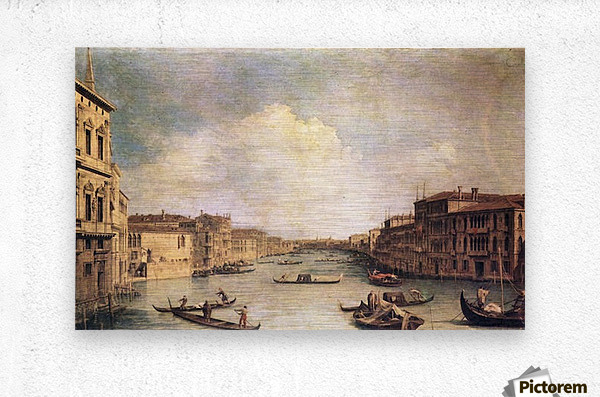 Grand Canal -1- by Canaletto  Metal print