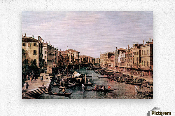 Grand Canal -2- by Canaletto  Metal print