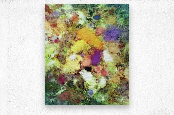Forgotten petals  Metal print