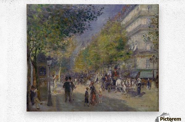 Grande Boulevards by Renoir  Metal print