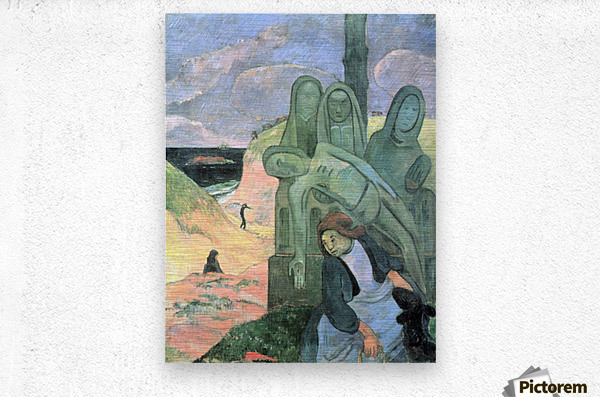 Green Christ by Gauguin  Metal print