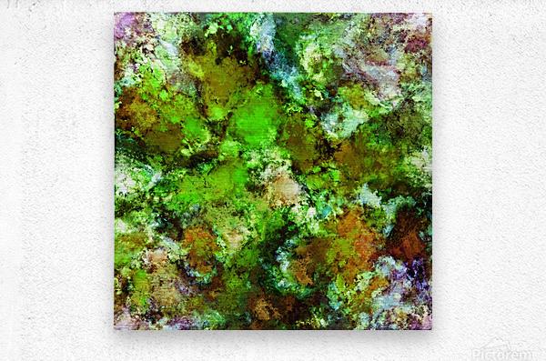 Green scene  Metal print