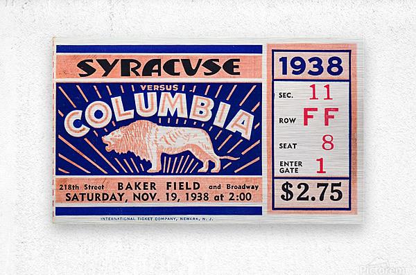 1938 Syracuse vs. Columbia  Metal print