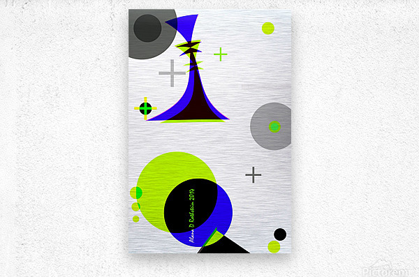 MATH 3  Metal print
