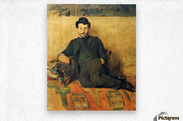 Gustave Lucien Dennery by Toulouse-Lautrec  Metal print