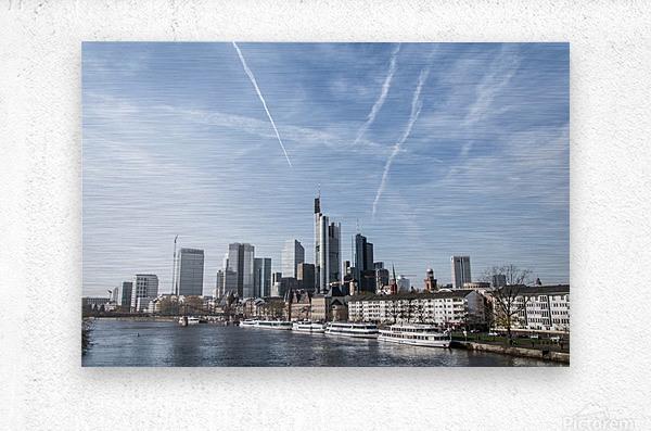 frankfurt skyscraper  Metal print