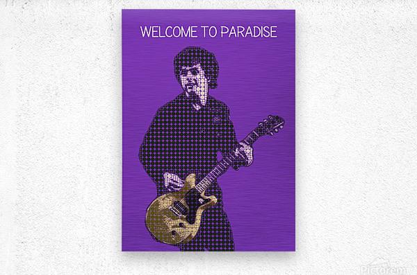 welcome to paradise   Billie Joe Armstrong  Metal print