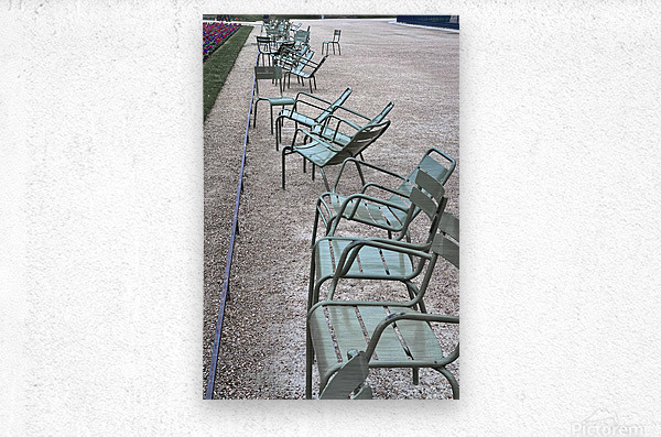 Chaises du Luxembourg   1  Metal print